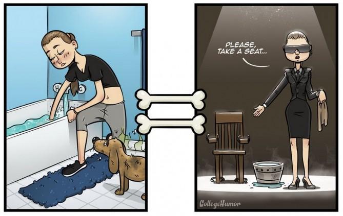 - Với bạn: Tắm táp cho chó là một công việc quá đỗi bình thường và đơn giản – Nhưng, với loài chó: Điều đó giống như việc bạn đang chuẩn bị đưa chúng vào ghế điện vậy.