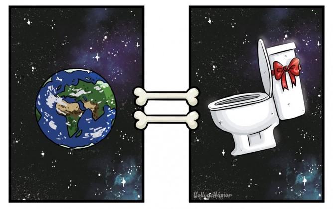 """- Ý nghĩa thực sự của từ """"thế giới"""" với bạn là Trái Đất, vũ trụ…. – Nhưng, với loài chó: chỉ đơn giản là nơi chúng đã """"đánh dấu""""."""