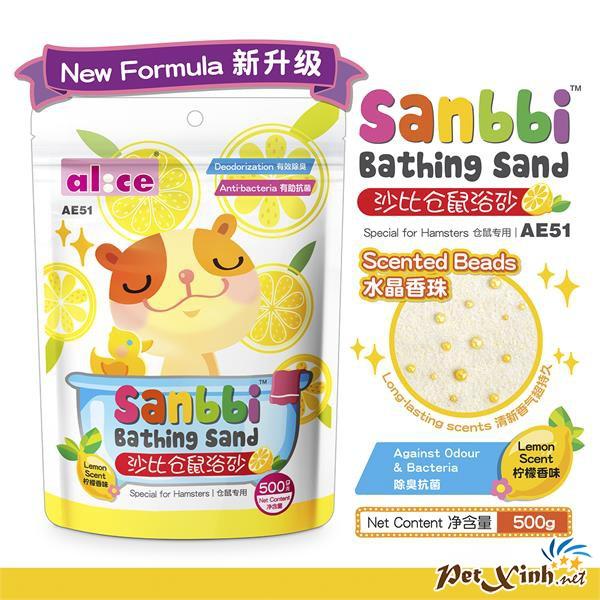 Cát Tắm Hamster 500g - Hương Chanh