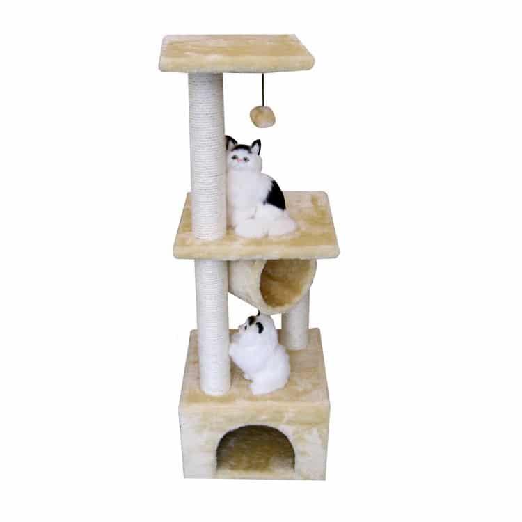 nhà cào móng cho mèo kem sữa 1