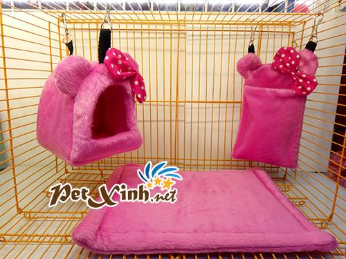 Nhà ngủ sóc hình gấu hồng 1