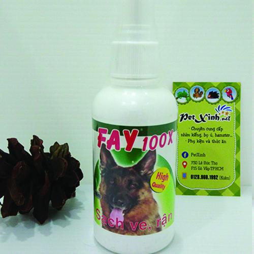 Thuốc trị ve rận bọ chét cho chó Fay 100ml