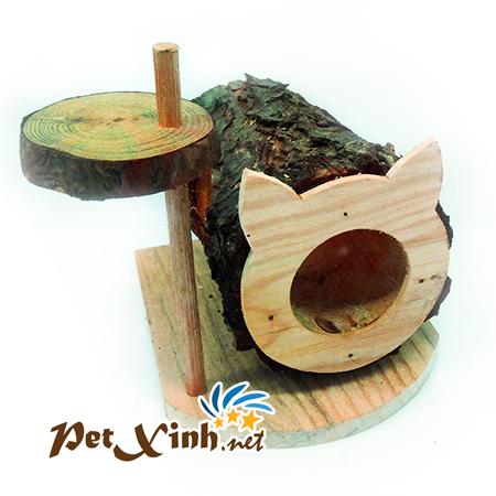 Nhà khúc cây hình tai mèo