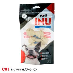 Xương gặm cho chó SnackInu nơ mini hương sữa 1