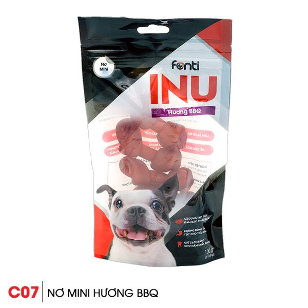 Xương gặm cho chó Snack Inu Nơ mini hương BBQ 1