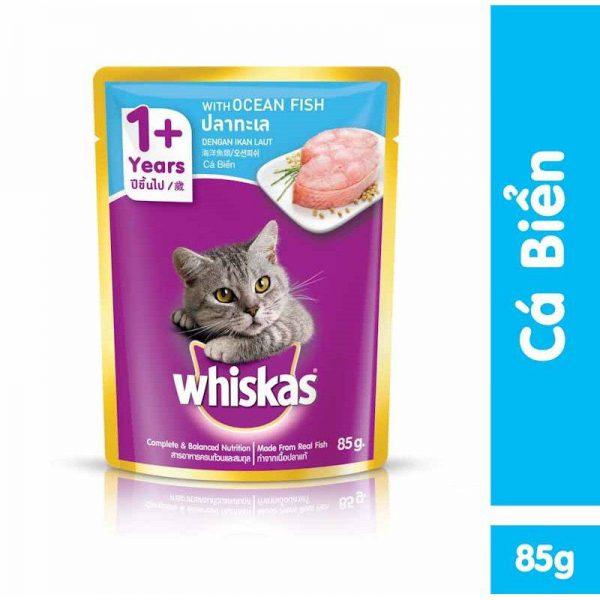 Pate Cho Mèo Lớn Whiskas Vị Cá biển