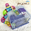 lồng hamster ống nối mặt mica