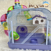 Lồng hamster ống nối mặt mica 1