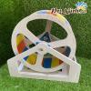 Wheel gỗ cầu vồng
