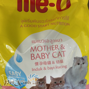 Thức ăn Me-O Mother and Baby Cat 1,1kg