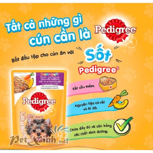 Pate cho chó con Pedigree vị gà gan trứng rau 5