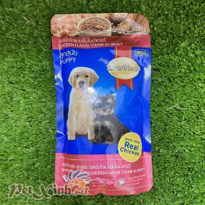 Thức ăn cho chó con Smartheart Gà Viên Nấu Sốt