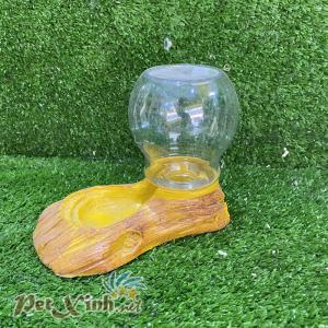 Bình nước giả gỗ cho bò sát