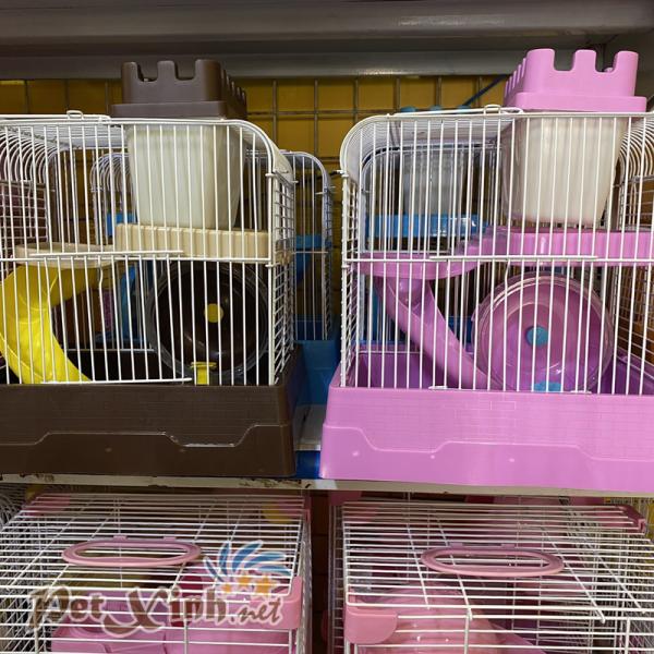 Lồng hamster tường thành mini