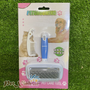 Bộ lược groom lông cho thú cưng