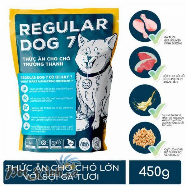 Thức ăn cho chó lớn có sợi gà tươi Regular Dog 7