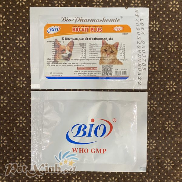 Bổ sung vitamin tăng đề kháng cho chó mèo Bio-Vit Plus