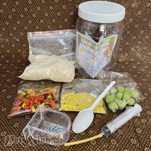 Combo thức ăn và dụng cụ đút ăn cho vẹt