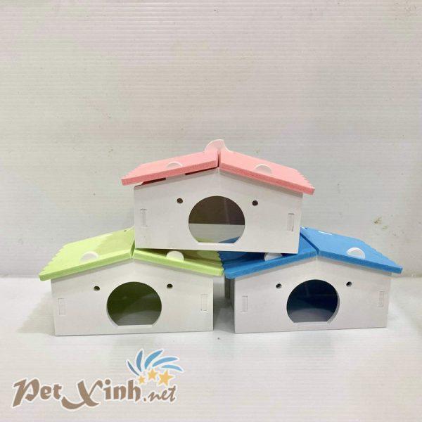 nhà gỗ sắc màu nhà hamster